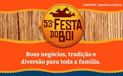 Convite Festa do Boi 2015