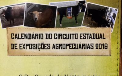 Calendário do Circuito Estadual de Exposições Agropecuárias 2016