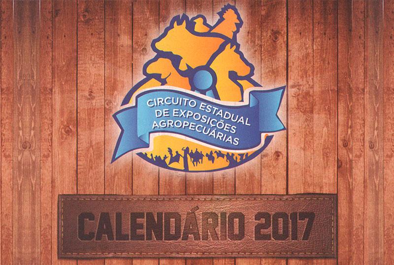 Calendário do Circuito Estadual de Exposições Agropecuárias