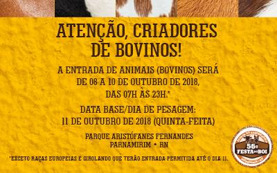 Atenção criadores de bovinos!